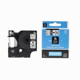 Utángyártott szalag Dymo 45803, S0720830, 19mm x 7m, fekete nyomtatás / fehér alapon