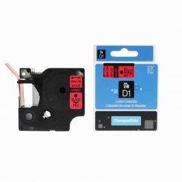 Utángyártott szalag Dymo 45807, S0720870, 19mm x 7m, fekete nyomtatás / piros alapon