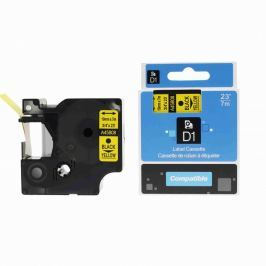 Utángyártott szalag Dymo 45808, S0720880, 19mm x 7m, fekete nyomtatás / sárga alapon
