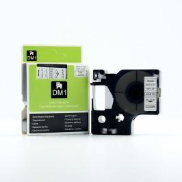 Utángyártott szalag Dymo 40910, S0720670, 9mm x 7m fekete nyomtatás / átlátszó alapon