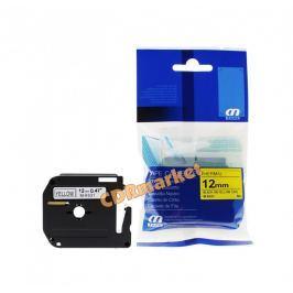 Utángyártott szalag Brother MK-631, 12mm x 8m, fekete nyomtatás / sárga alapon
