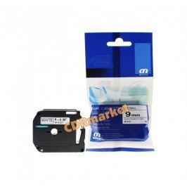 Utángyártott szalag Brother MK-221, 9mm x 8m, fekete nyomtatás / fehér alapon