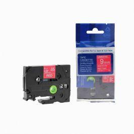 Utángyártott szalag Brother TZ-425 / TZe-425, 9mm x 8m, fehér nyomtatás / piros alapon