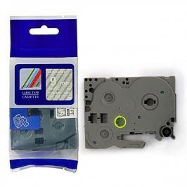 Utángyártott szalag Brother TZ-125 / TZe-125, 9mm x 8m, fehér nyomtatás / átlátszó alapon