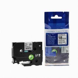 Utángyártott szalag Brother TZ-FX241/TZe-FX241, 18mm x 8m, flexi, fekete nyomtatás / fehér alapon