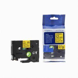 Utángyártott szalag Brother TZ-FX631/TZe-FX631 12mm x 8m, flexi, fekete nyomtatás/sárga alapon Utángyártott szalagok