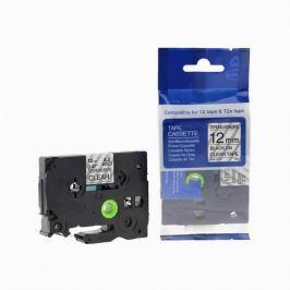 Utángyártott szalag Brother TZ-S131/TZe-S131 12mm x 8m erősen ragadó, fekete nyomtatás/ átlátszó alapon