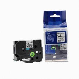 Utángyártott szalag Brother TZ-S251/TZe-S251 24mm x 8m erősen ragadó, fekete nyomtatás / fehér alapon Utángyártott szalagok