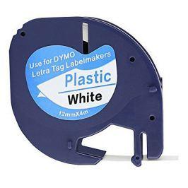 Utángyártott szalag Dymo 59422, S0721560, 12mm x 4m, fekete nyomtatás / fehér alapon