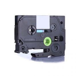 Utángyártott szalag Brother TZ-D11/TZe-D11, rikítós 6mm x 8m, fekete nyomtatás/zöld alapon Utángyártott szalagok