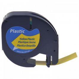 Utángyártott szalag Dymo 59423, S0721570, 12mm x 4m, fekete nyomtatás / sárga alapon