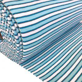 Körkötött sima passzé Stripe variable light blue white