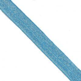 Szegőgumi glitter 20 mm blue