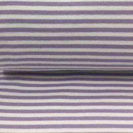 Körkötött sima passzé Stripe light purple white