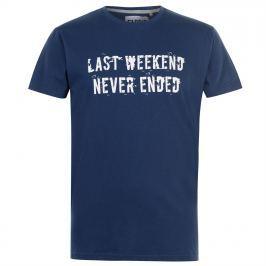 Fabric Slogan T Shirt Mens