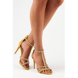 YELLOW SUEDE SANDALS