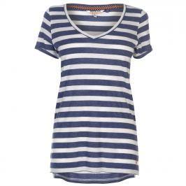 SoulCal V Neck Stripe T Shirt Ladies