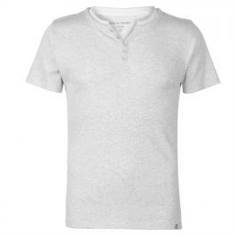 Pierre Cardin Ribbed Y Neck T Shirt Mens