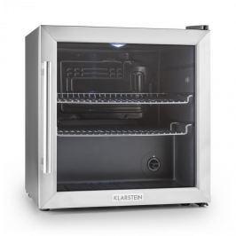 Klarstein Beersafe L hűtőszekrény, 50 l, B osztály, üvegajtó, rozsdamentes acél
