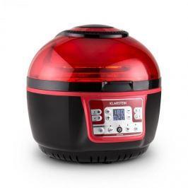 Klarstein VitAir Turbo, 1400 W, 9 l, meleglevegős fritőz, grillezés, sütés, piros-fekete