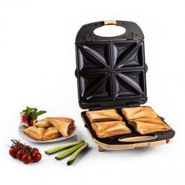 Klarstein Trinity 3 az 1-ben szendvicssütő XXL, 1300 W, krémszínű