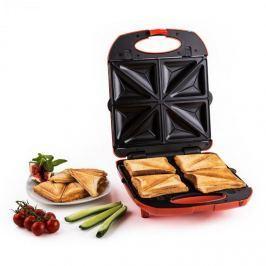 Klarstein Trinity 3 az 1-ben szendvicssütő XXL, 1300 W, piros