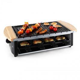 Klarstein raclette grillező grillező lemezzel, 8 fő, 1200 W