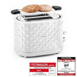 Klarstein Granada Bianca, 1000 W, kenyérpirító, kétszeletes, fehér