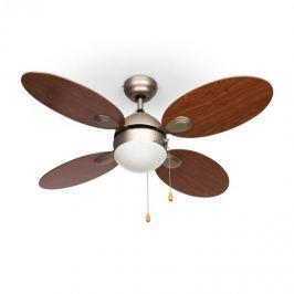 """Klarstein Valderama, cseresznyefa, mennyezeti ventilátor, 42"""", 60 W, mennyezeti lámpa, 2 x 43 W"""