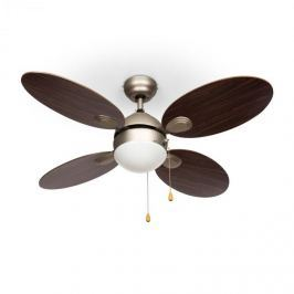 """Klarstein Valderama, paliszander, mennyezeti ventilátor, 42"""", 60 W, mennyezeti lámpa, 2 x 43 W"""