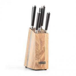 Klarstein Katana 6, kés készlet, 6 darabos, masszív fa – kés blokk, 3CR13 nemesacél