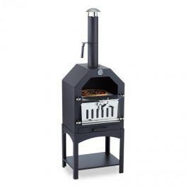 Klarstein Pizzaiolo pizzasütő kemence, grill, füstölő, acél, pizzakő