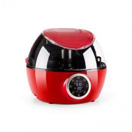 Klarstein VitAir Twist meleglevegős fritőz, 4 az 1-ben, automata főzőgép, 1230 W, piros