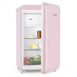 Klarstein PopArt Pink retro hűtőgép A++, 108 l / 13 l fagyasztó, rózsaszín