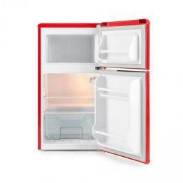 Klarstein Monroe Red, hűtőszekrény fagyasztóval, 61/24 l, A+, retro dizájn, vörös