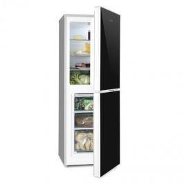 Klarstein Luminance Frost hűtőszekrény fagyasztóval, 98/52l A+++, üvegajtó, fekete