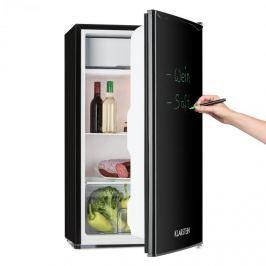 Klarstein Spitzbergen UNI, 90 l, fekete, hűtőszekrény fagyasztóval, A+ energetikai osztály