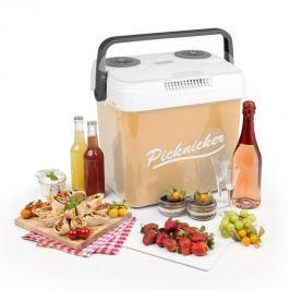 Klarstein Picknicker XL termo hűtődoboz, 32 l, A++, AC DC, szivargyújtó, bézs