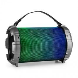 Auna Dr. Bang LED, fémszínű, 2.1-BT-hangfal, 20 W, RMS, USB, microSD, AUX, UKW, akkumulátor, LED