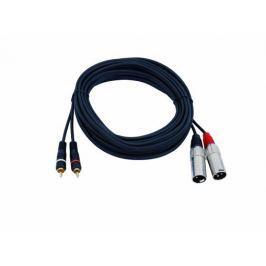 Electronic-Star Cinch XLR kimenő kábelhez, 6 m, DJ, PA kábel, sztereó