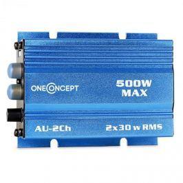 OneConcept autóba alkalmas erősítő ,500 W, kék