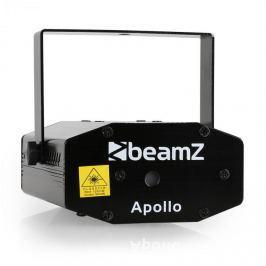 Mini lézer Beamz Apollo, multipoint effektus, piros és zöld