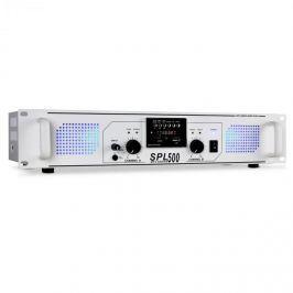 Skytec SPL-500 PA erősítő, USB, SD, MP3, 1600 W fehér