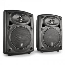 QTX QR5B falra szerelhető hangfalpár, aktív, passzív, fekete