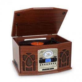 Auna NR-620 sztereó készülék, stereo, MP3 felvétel, barna