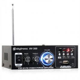 Skytronic AV-360 hi-fi sztereó erősítő, USB, SD, MP3, AUX, F