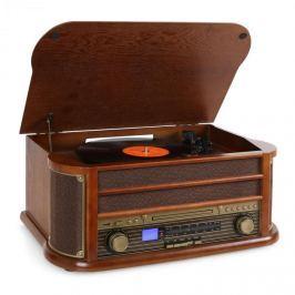 Retró sztereó berendezés Auna Belle Epoque 1908, USB, CD,MP3