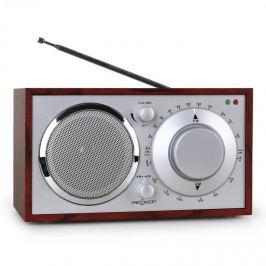 OneConcept Lausanne nosztalgia rádió, cseresznye színű, FM, AUX