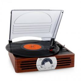 Auna TT-83N, gramofon , FM, faipari