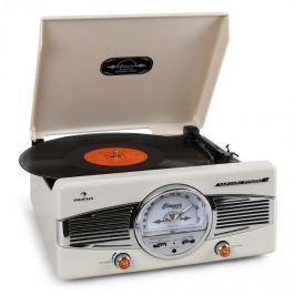 Auna MG-TT-82B gramofon, FM, 50-es évek, retró,krém